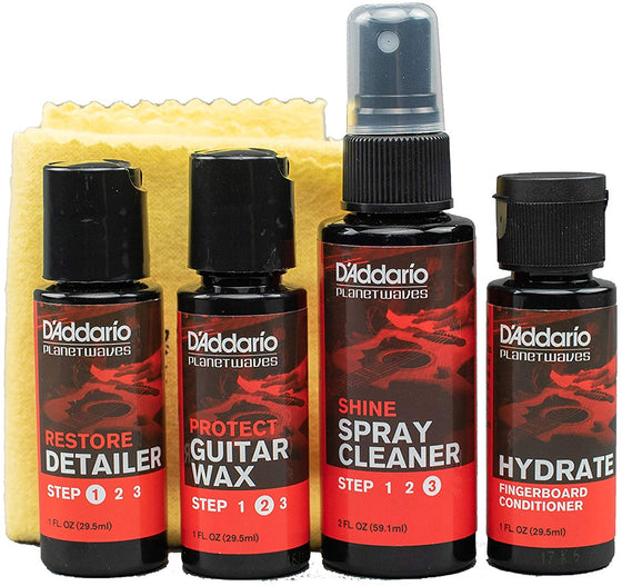PW-GCB-01 D'addario Instrument Care Essentials Cleaning Kit