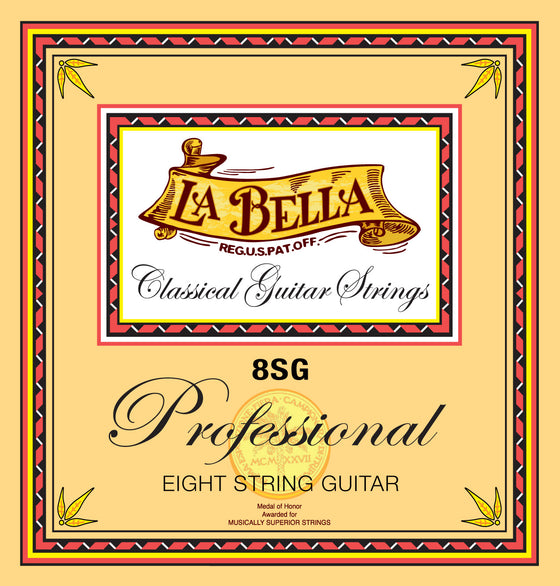 8SG LaBella 8 String Classical Guitar Set
