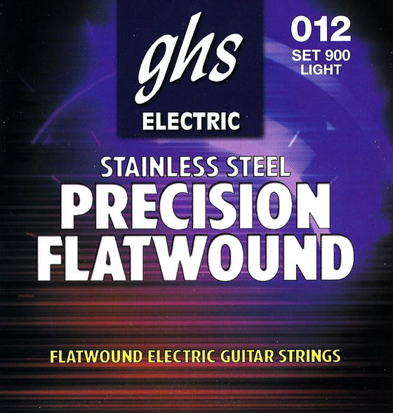 900 GHS Precision Flatwound Stainless Steel Electric Guitar String Set - Light 12-50