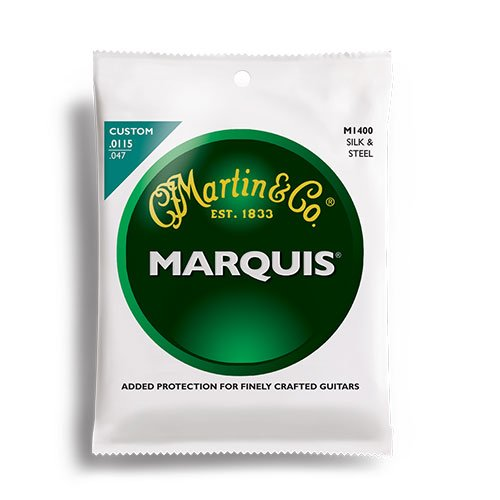 M1400 Martin Marquis Silk and Steel Folk Guitar String Set - Custom Lights 11.5-47