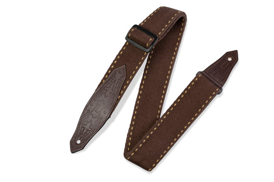 "MSSC80-BRN Levy's Leathers 2"" Guitar Strap - Heavy-Weight Cotton"