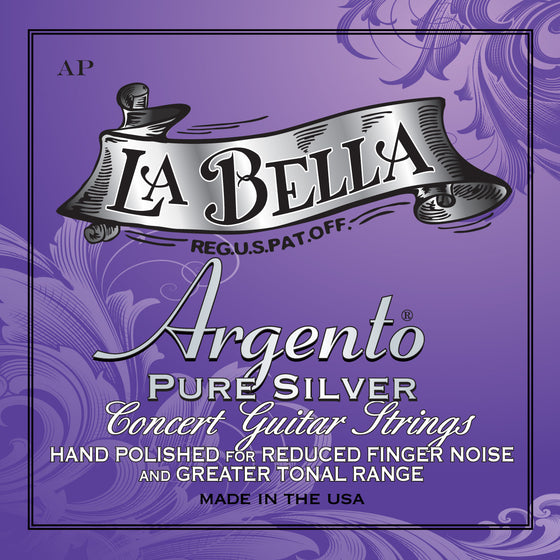 AP LaBella Argento Pure Silver Classical Guitar String Set