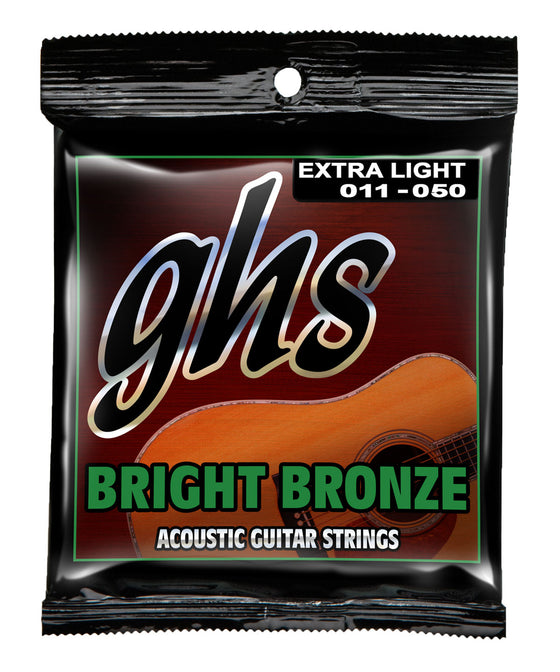 BB20X GHS Bright Bronze Acoustic Guitar String Set - Extra Light 11-50