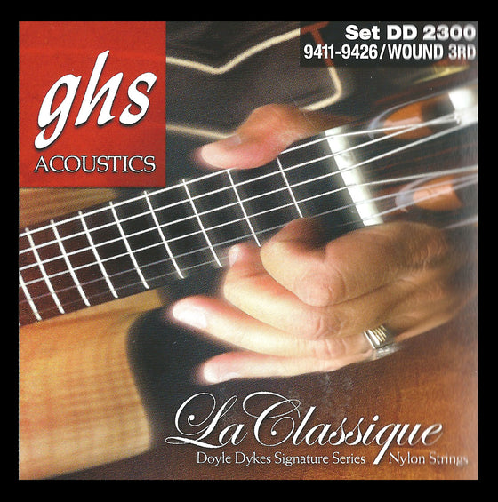 DD2300 GHS Doyle Dykes Signature La Classique Classical Guitar String Set - Wound 3rd