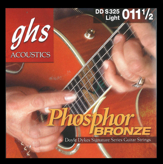 DDS325 GHS Doyle Dykes Signature Phosphor Bronze Acoustic Guitar String Set - Light 11.5-54