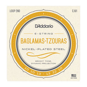 EJ91 Nickel Wound Baglamaz / Tzouras Bouzuki String Set