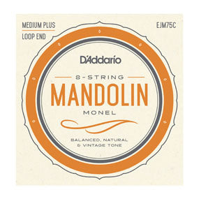 EJM75C D'addario Monel Mandolin String Set - Medium Plus 11-41