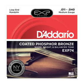 EXP74 D'addario Phosphor Bronze Mandolin String Set - Medium