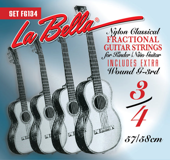 FG134 LaBella Classical Guitar String Set - Fractional 3/4