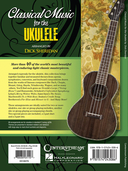 00138276 Classical Music for the Ukulele with CD - Hal Leonard