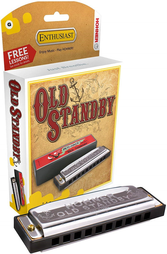 34B-BX-G Hohner Old Standby Enthusiast Harmonica - Key of G