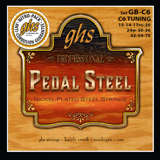 GB-C6 GHS Boomers Pedal Guitar String Set - C6th Tuning