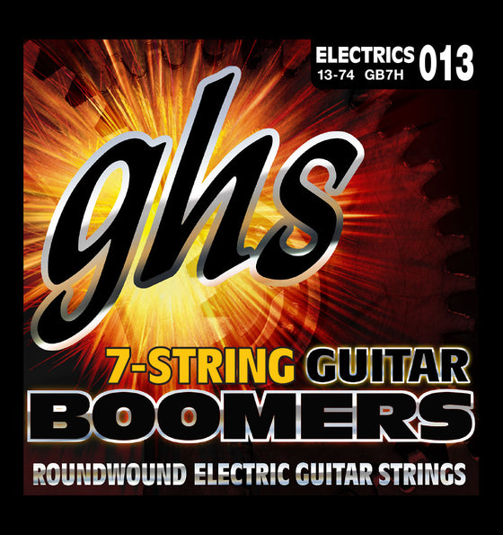 GB7H GHS 7 String Boomers Electric Guitar String Set - Heavy 13-74