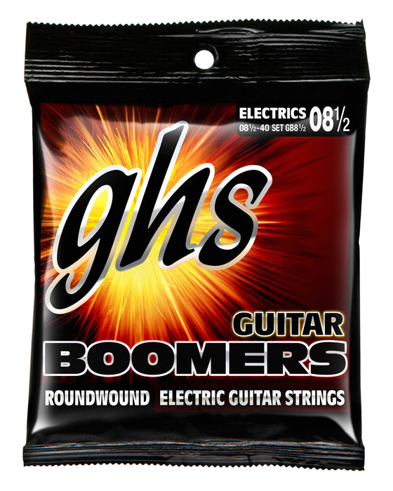 GB8 1/2 GHS Roundwound Boomers Electric Guitar String Set - Ultra Light + 8.5-40