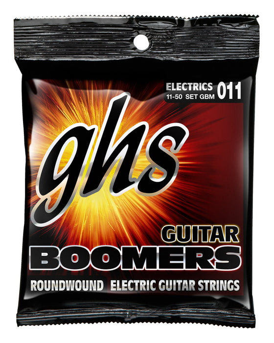 GBM GHS Roundwound Boomers Electric Guitar String Set - Medium 11-50