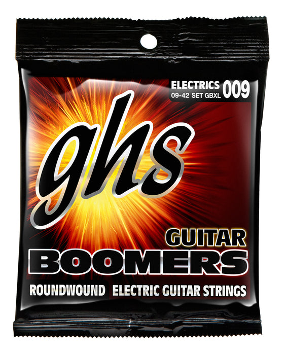GBXL GHS Roundwound Boomers Electric Guitar String Set - Extra Light 9-42