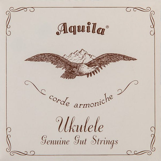 1U Aquila Soprano Ukulele Set High G - Genuine Gut