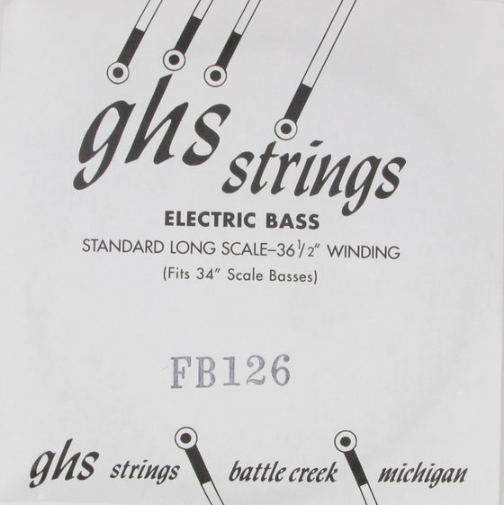 FB126 GHS Flatwound Stainless Steel Bass Single