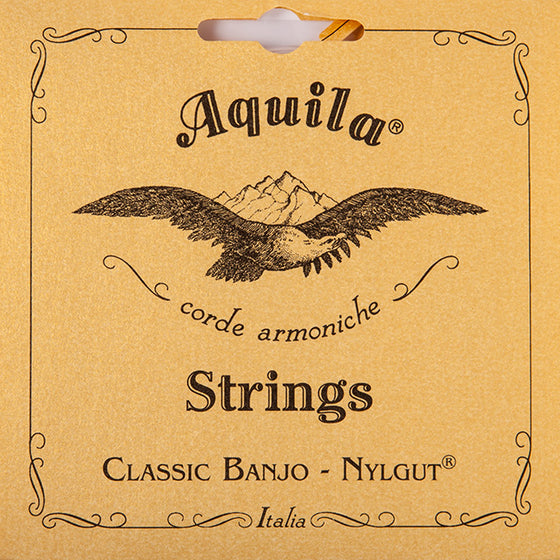 2B Aquila Banjo Nylgut Set w/ Wound 4 - Light
