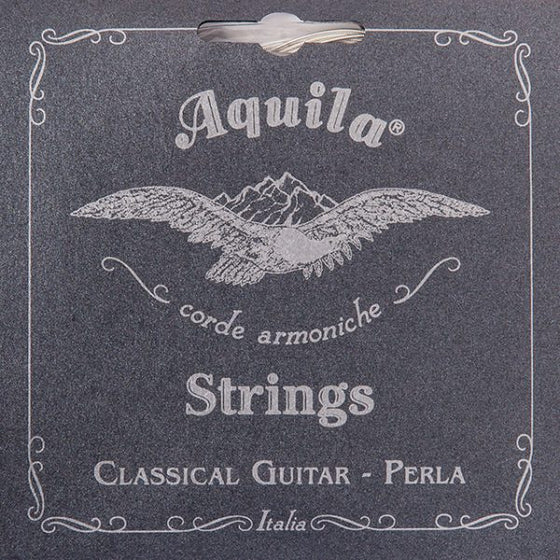 40C Aquila Classical Guitar Bass Only Set - High Tension Pearla