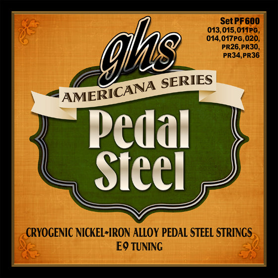 PF600 GHS Americana Series Cryogenic Nickel Iron Alloy Pedal Steel String Set - E9 Tuning
