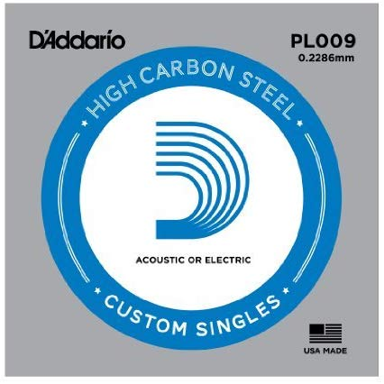 PL009 D'addario Plain Steel String .009 - Single