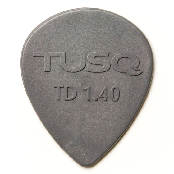 PQP-0514-G6 Tusq Tear Drop Pick 1.4mm Grey 6 Pack - Deep