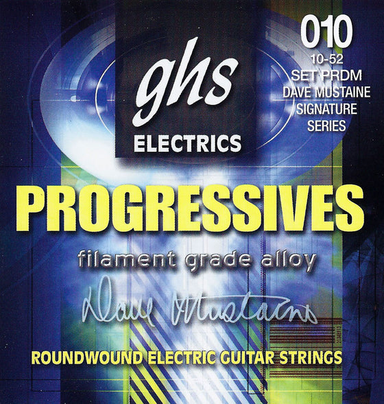 PRDM GHS Dave Mustang Signature Series Roundwound Progressives Electric Guitar String Set - 10-52