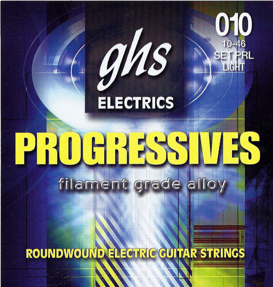 PRL GHS Roundwound Progressives Electric Guitar String Set - Light 10-46