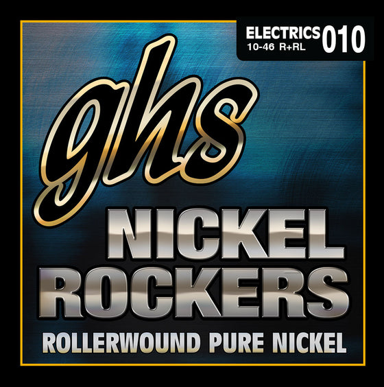 R+RL GHS Pure Nickel Rollerwound Nickel Rockers Electric Guitar String Set - Light 10-46