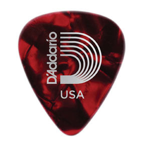 1CRP2-25 Light Gauge Celluloid Guitar Picks in Red Pearl - 25 Pack