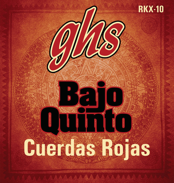 RKX-10 GHS Bajo Quinto Red Coated Set