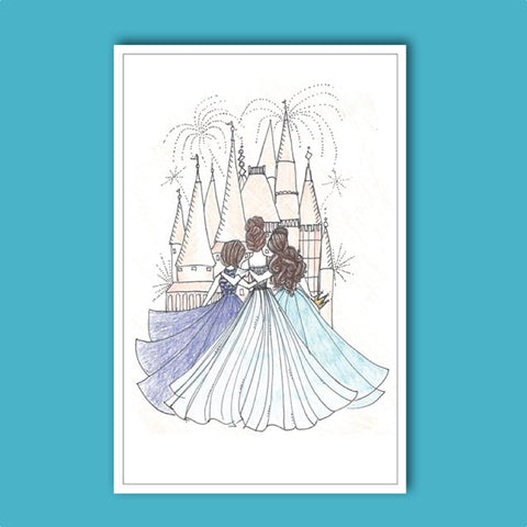 NEW! Broadway Princess Greeting Card - Castle