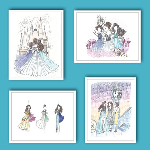 NEW! Broadway Princess Notecards - 8 pack