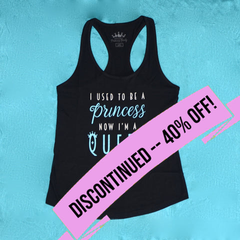BPP Women's Racer-Tank - Princess+Queen - BLACK