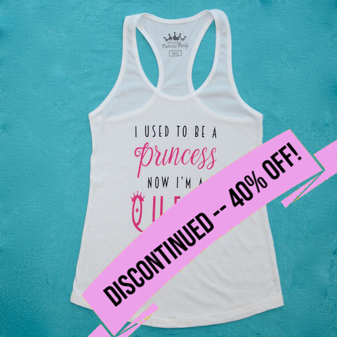 BPP Women's Racer-Tank - Princess+Queen - WHITE