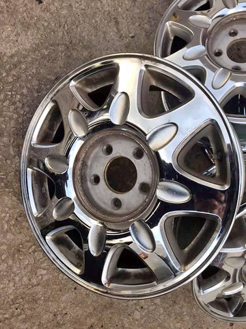 "SET OF 4 CHROME CADILLAC 16"" WHEELS CS493"