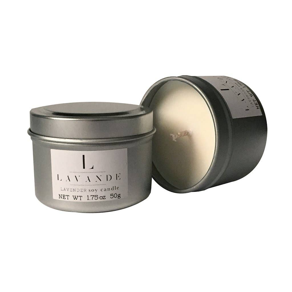 Lavender Travel Candle - Lavender Willow