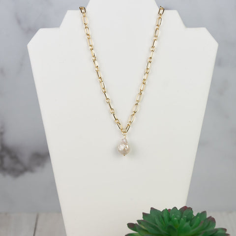 Libby Freshwater Pearl and Link Necklace