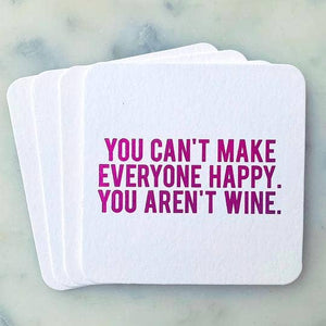 Boozy You Can't Make Everyone Happy Coasters - Lavender Willow