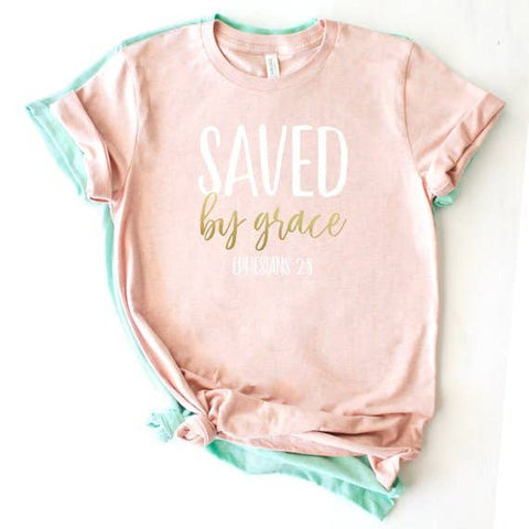 Saved by Grace (Bible Verse) T-shirt