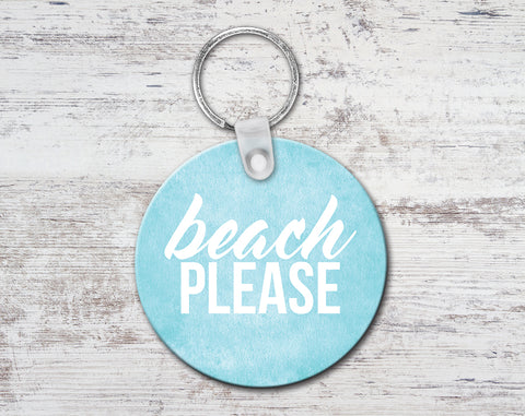 Beach Please Keychain