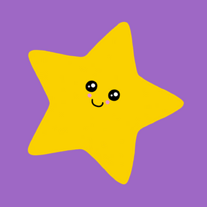 Kawaii Stars Face Cover