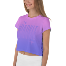 Load image into Gallery viewer, Sparkle Ghost Text Women's Crop Tee