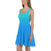 Load image into Gallery viewer, Blue Ghost Sparkle Women's Skater Dress