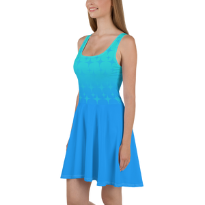 Blue Ghost Sparkle Women's Skater Dress