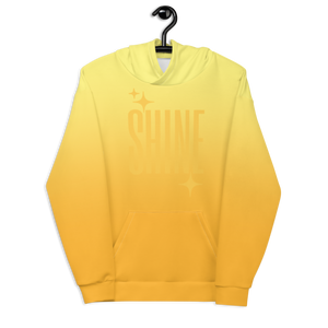 Shine Ghost Text Unisex Adult Hoodie