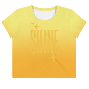 Shine Ghost Text Women's Crop Tee