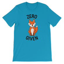 Load image into Gallery viewer, Zero Fox Given Unisex Adult Tee