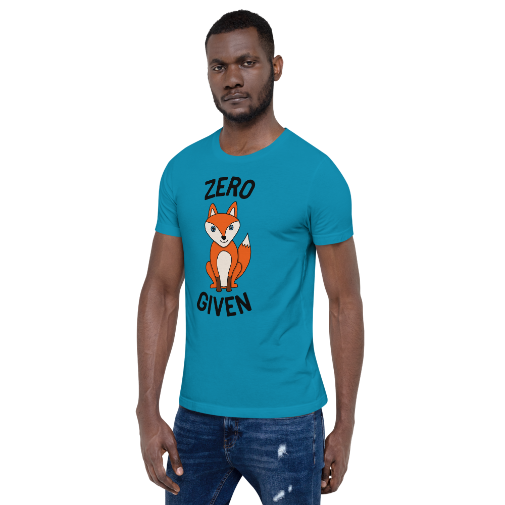 Zero Fox Given Unisex Adult Tee